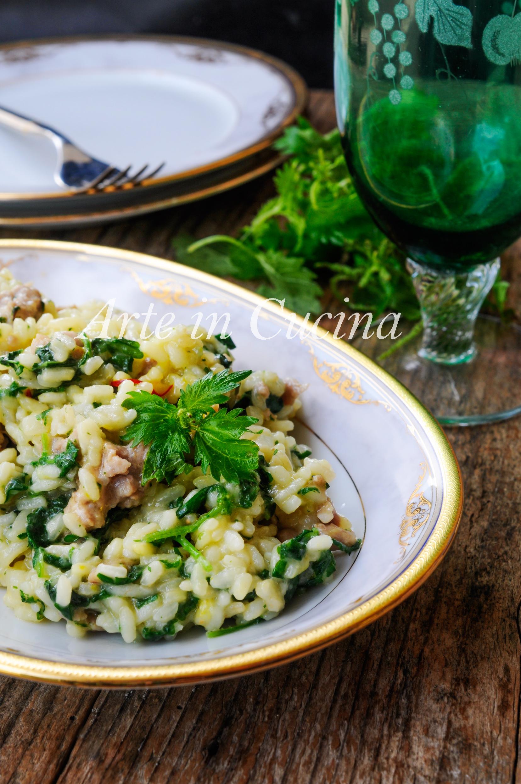 risotto alle ortiche con salsiccia e zafferano veloce | arte in cucina - Ortiche In Cucina