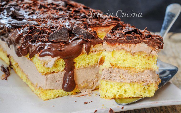 Semifreddo ricotta e cioccolato dolce veloce