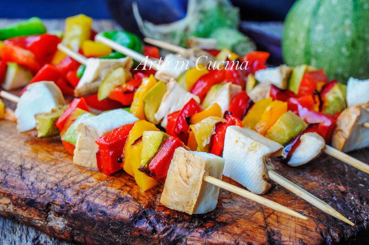 Spiedini di verdure grigliate e scamorza affumicata vickyart arte in cucina