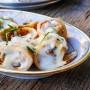 Teglia di crepes con funghi e salsiccia besciamella vickyart arte in cucina