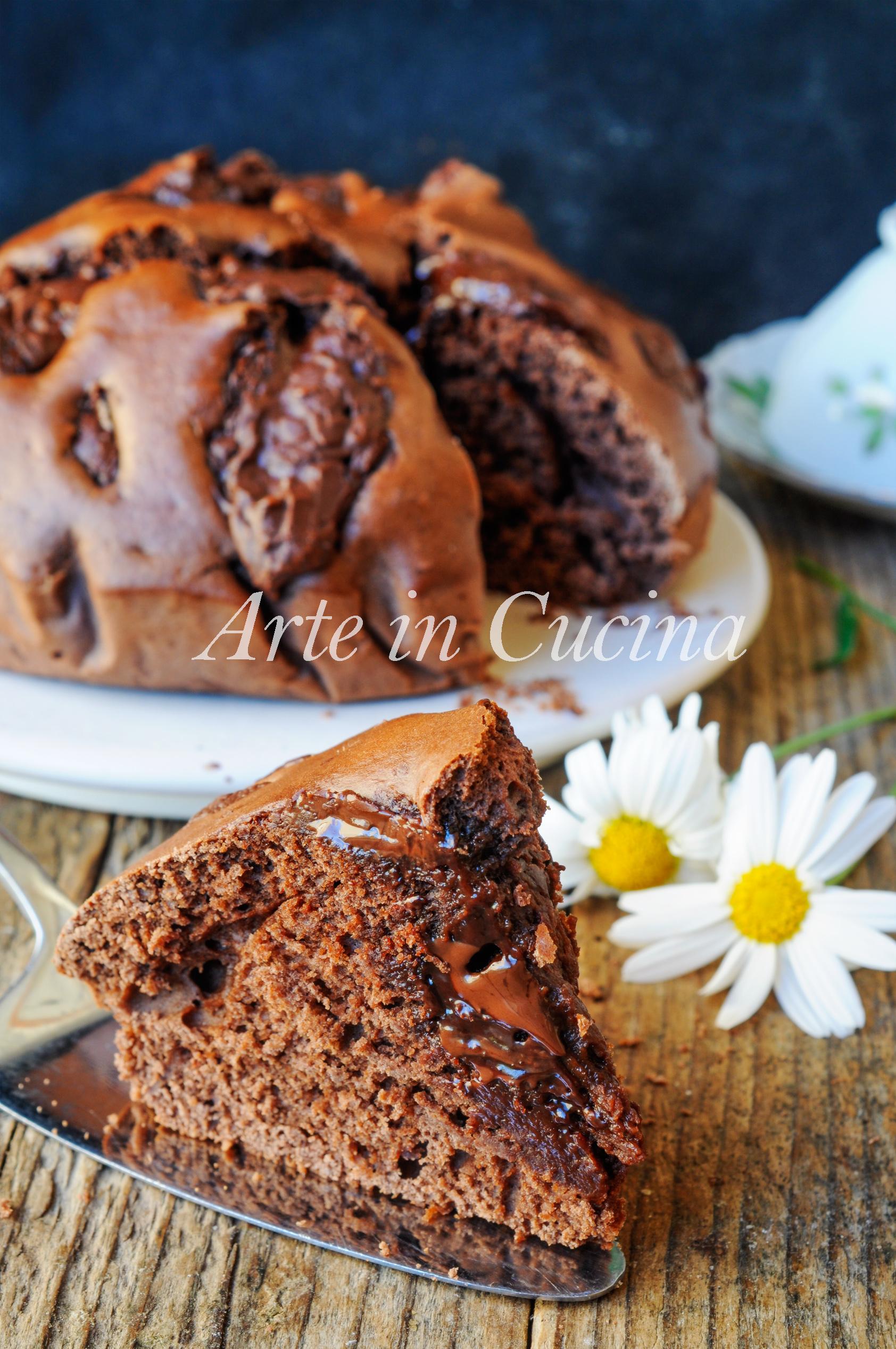 Torta al cioccolato semplice veloce morbida senza burro vickyart arte in cucina