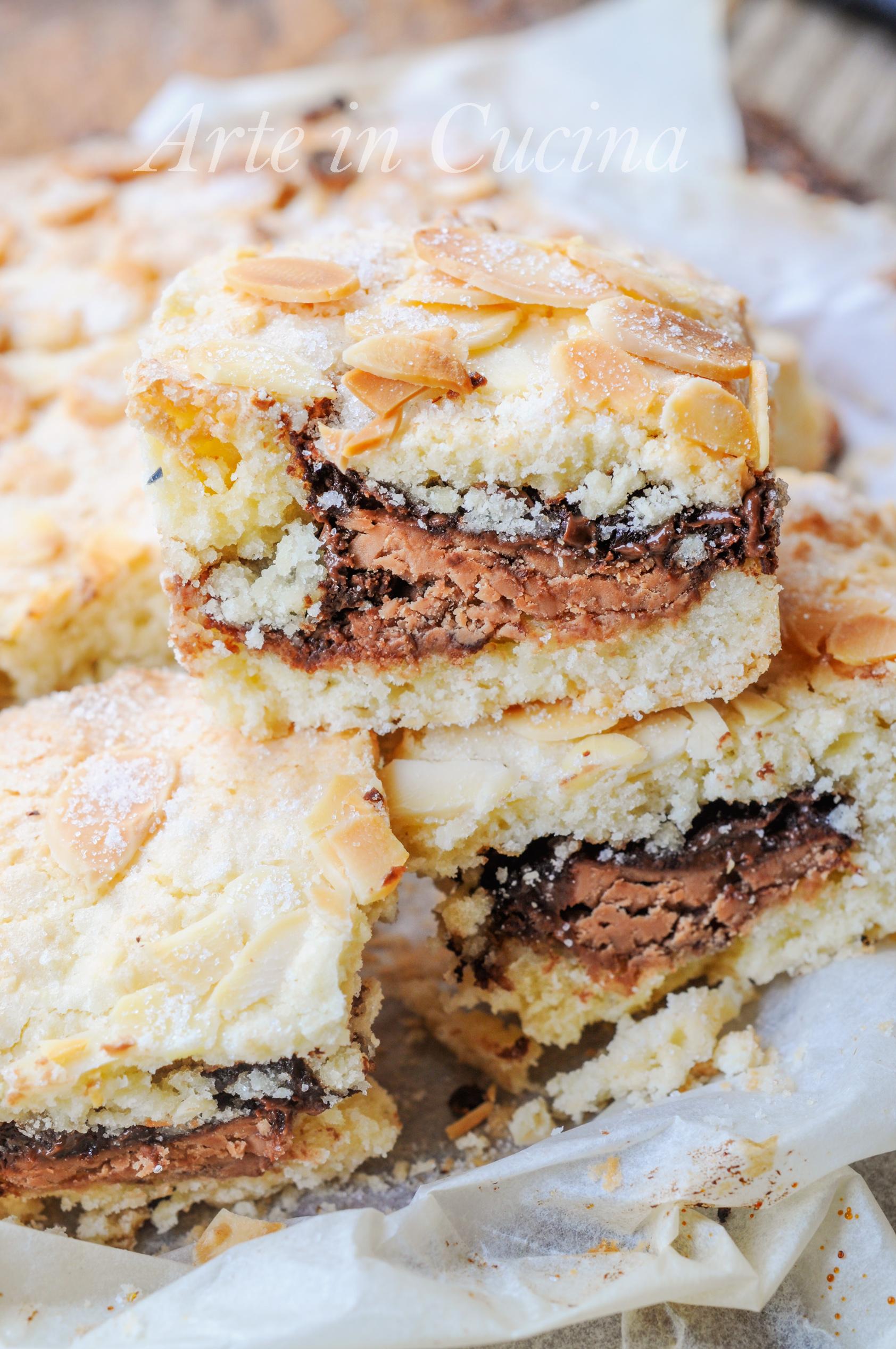 Tortine velocissime mandorle cioccolato e nutella vickyart arte in cucina