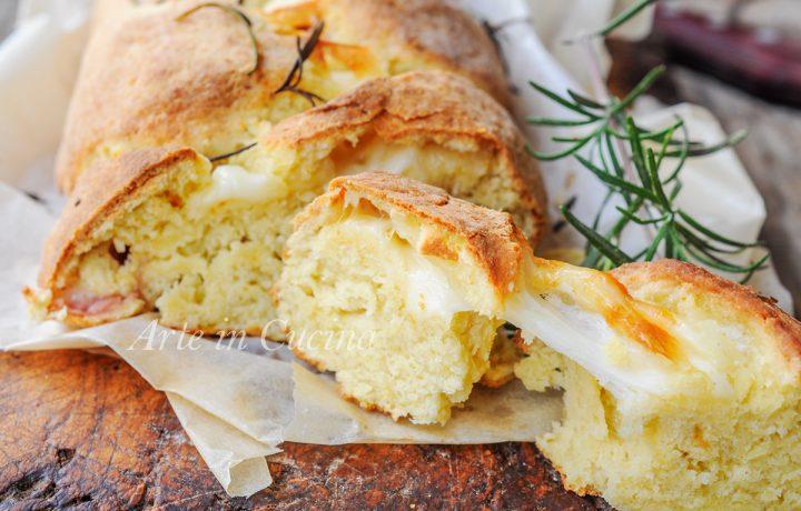 Treccia di patate farcita al forno ricetta facile