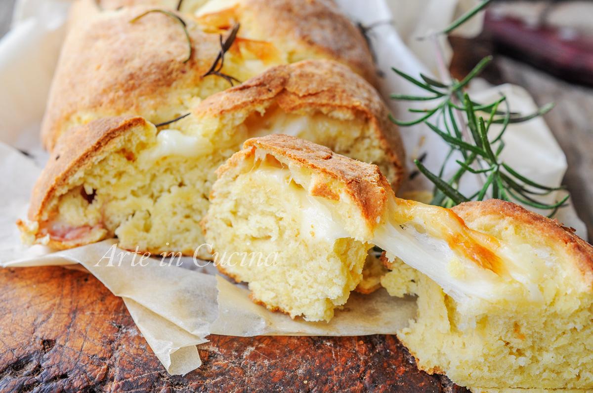 Treccia di patate farcita al forno ricetta facile vickyart arte in cucina