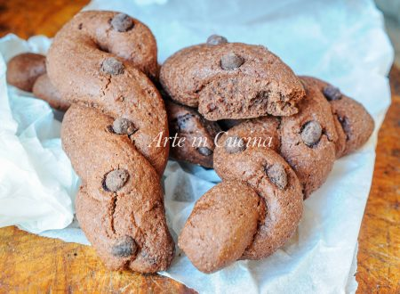 Treccine al cioccolato biscotti da colazione