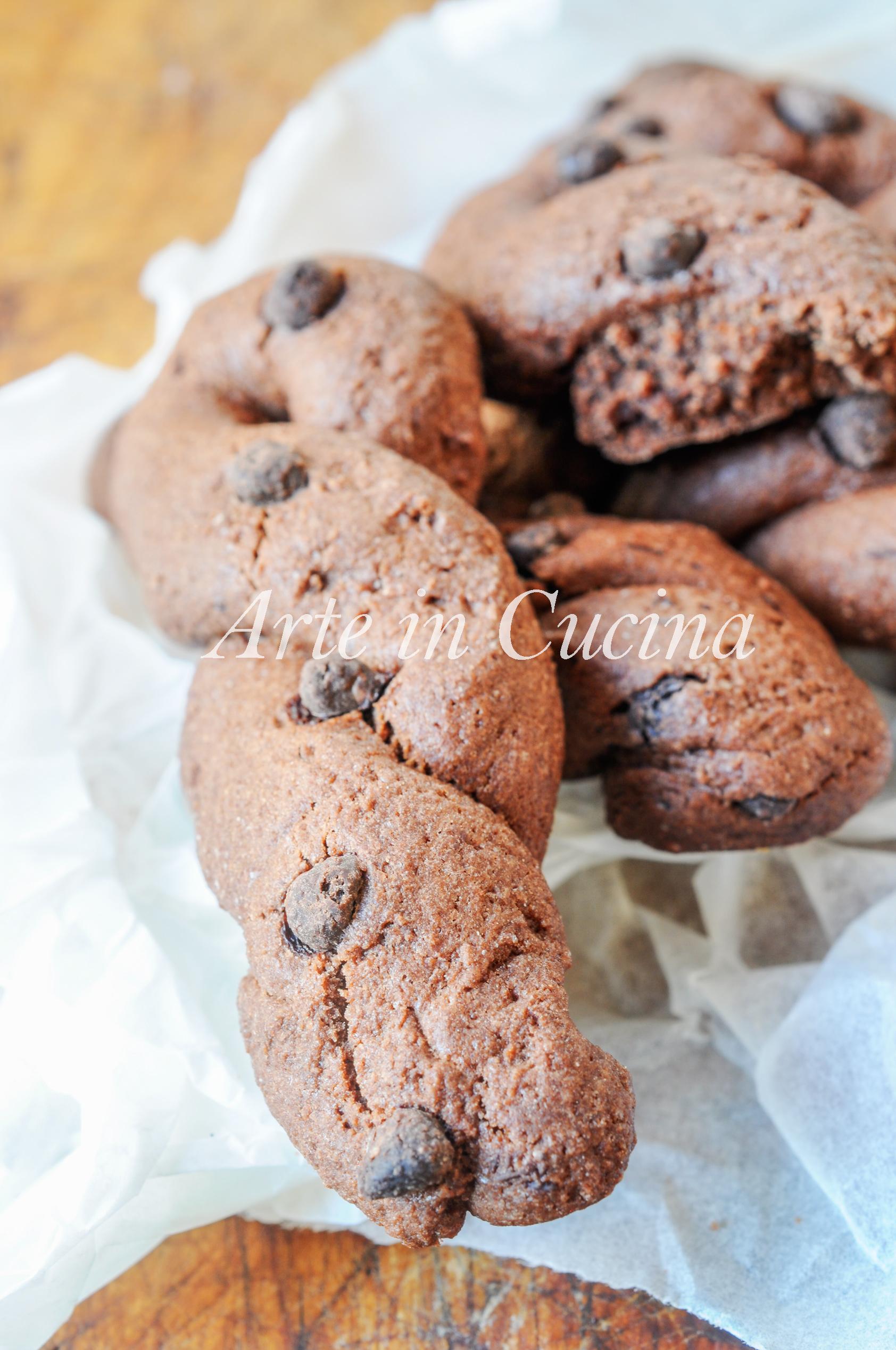 Treccine al cioccolato biscotti da colazione vickyart arte in cucina