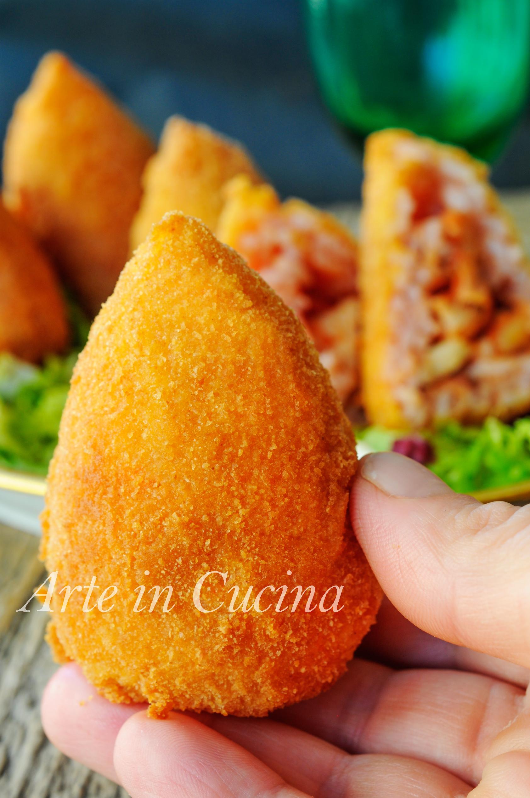 Arancine siciliane con seppie e provola ricetta sfiziosa vickyart arte in cucina