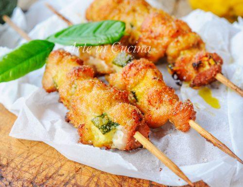 Arrosticini di pollo e zucchine ricetta facile e veloce