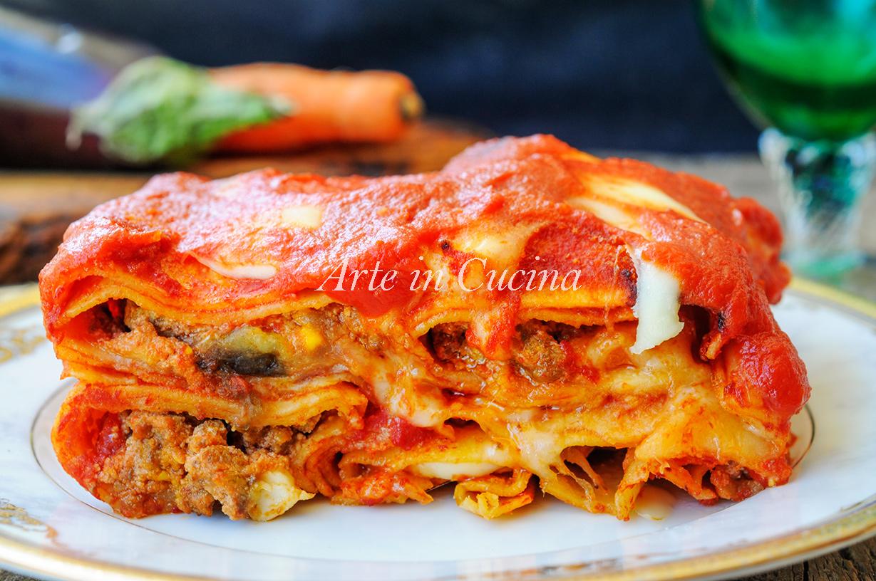 Cannoli di lasagna carne e melanzane facile e veloce