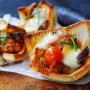 Cestini di pancarrè con melanzane e salsiccia vickyart arte in cucina