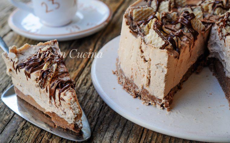 Cheesecake ai wafer al tiramisu e nutella ricetta veloce
