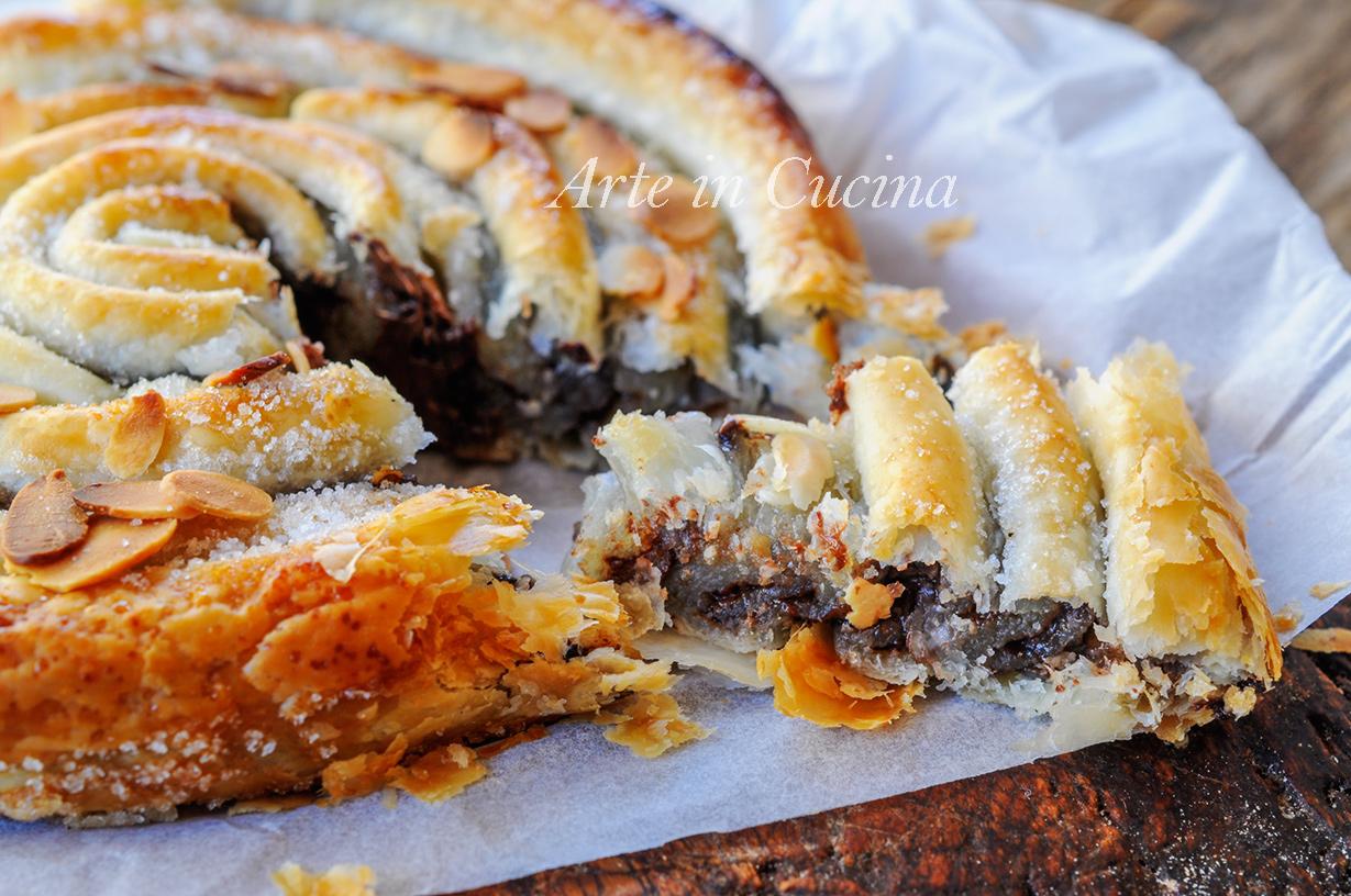 Chiocciola di sfoglia alla nutella ricetta veloce vickyart arte in cucina