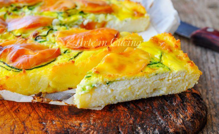 Crostata di semolino con zucchine e ricotta veloce