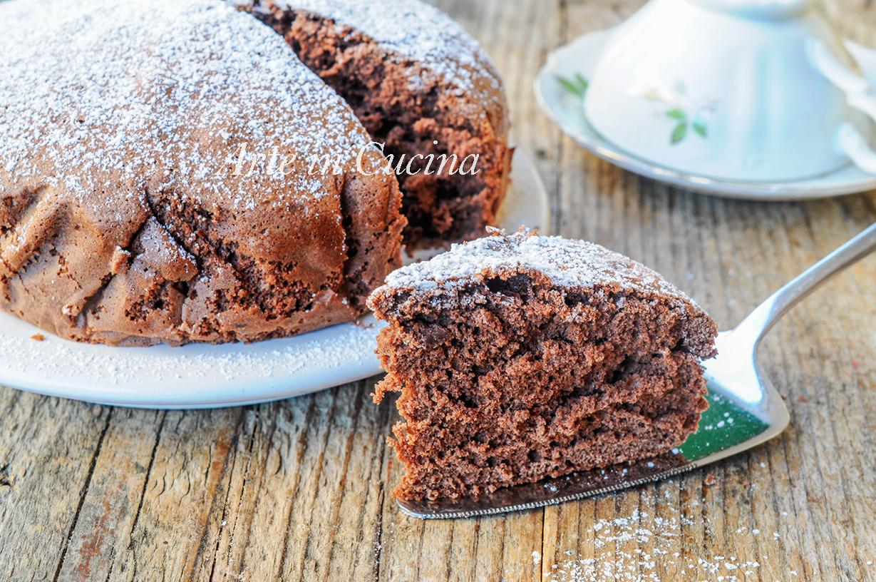 Pan di spagna al cacao senza lievito alto e soffice vickyart arte in cucina