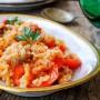 Risotto peperoni e salsiccia semplice e veloce vickyart arte in cucina
