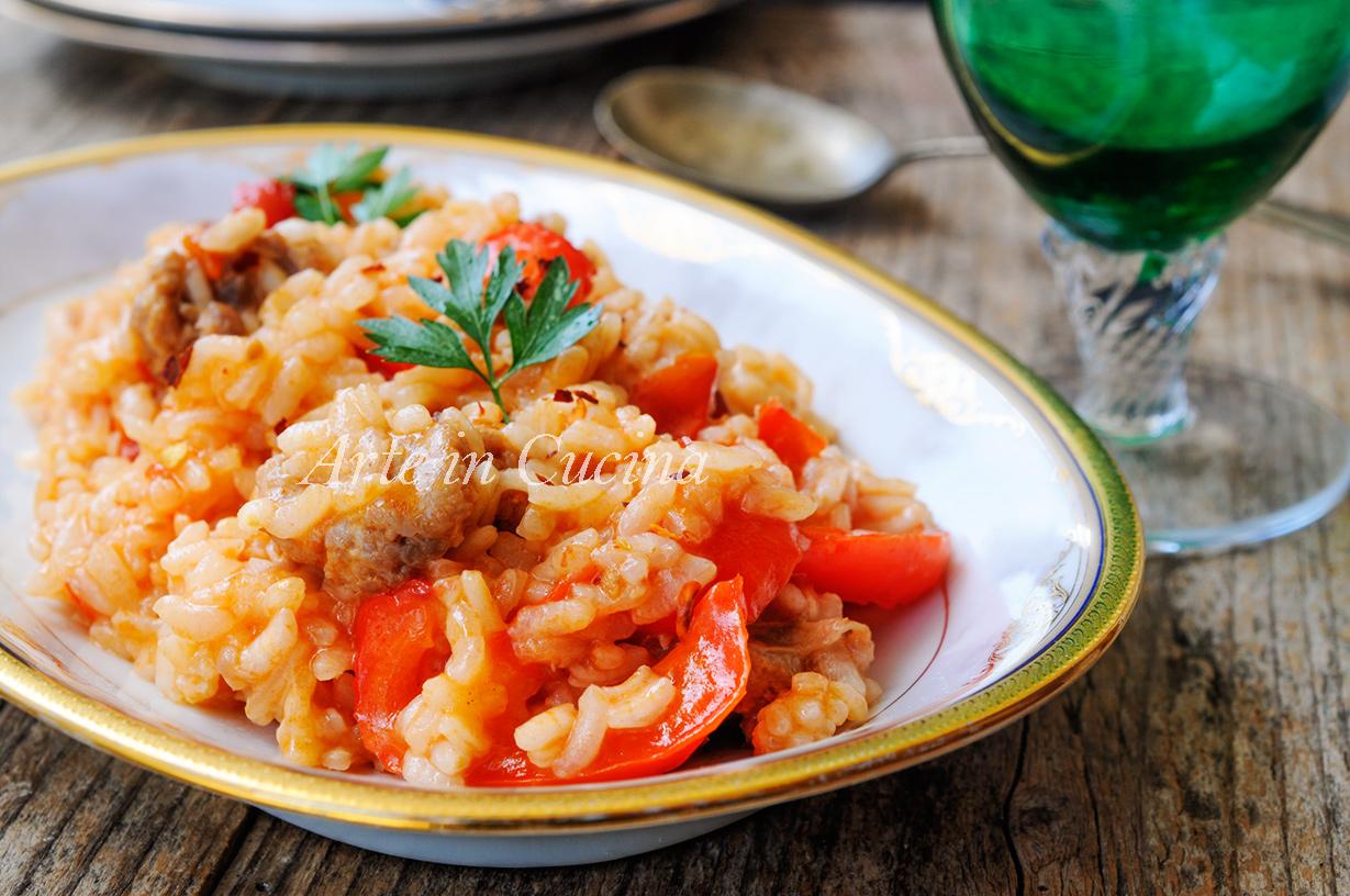 Risotto peperoni e salsiccia semplice e veloce for Cucina veloce e semplice