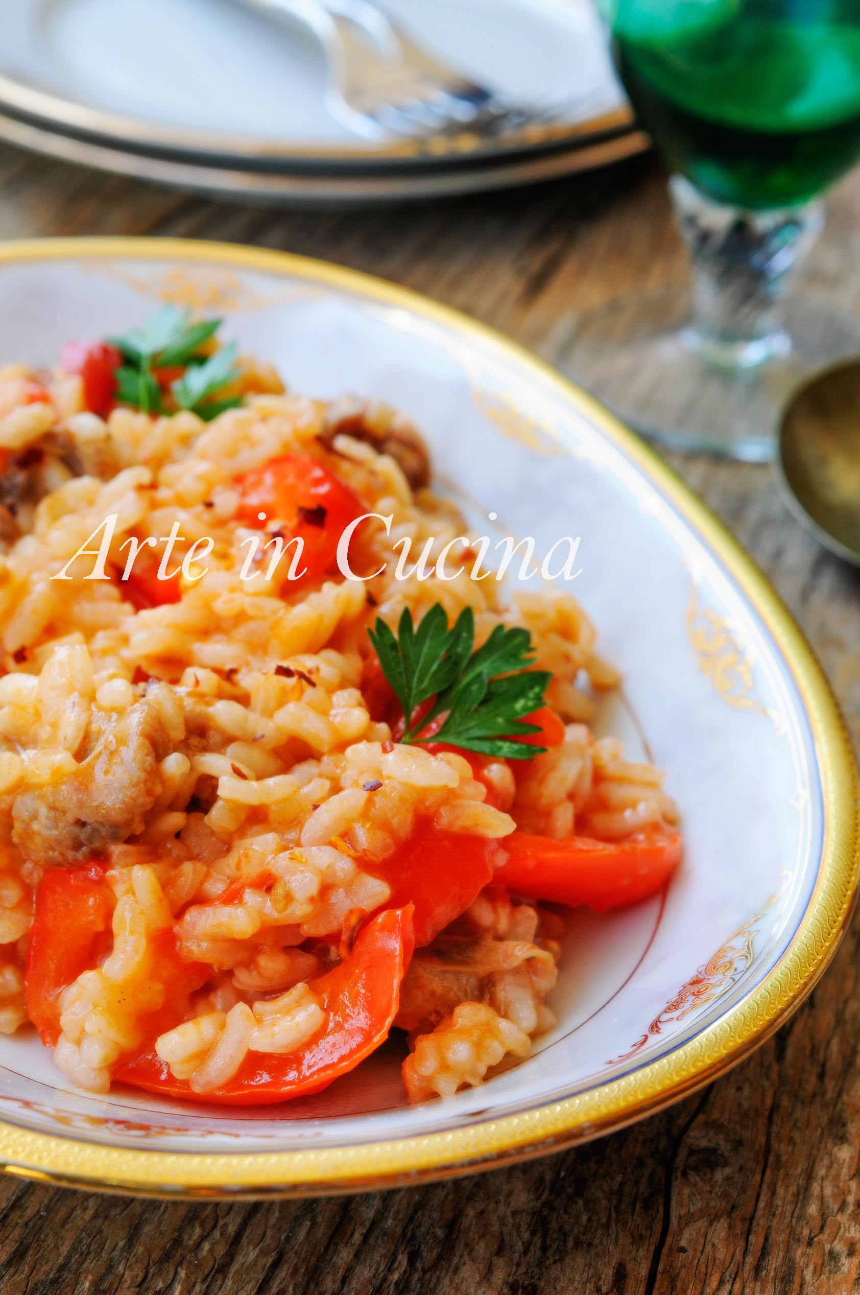 Risotto peperoni e salsiccia semplice e veloce arte in for Cucina veloce e semplice