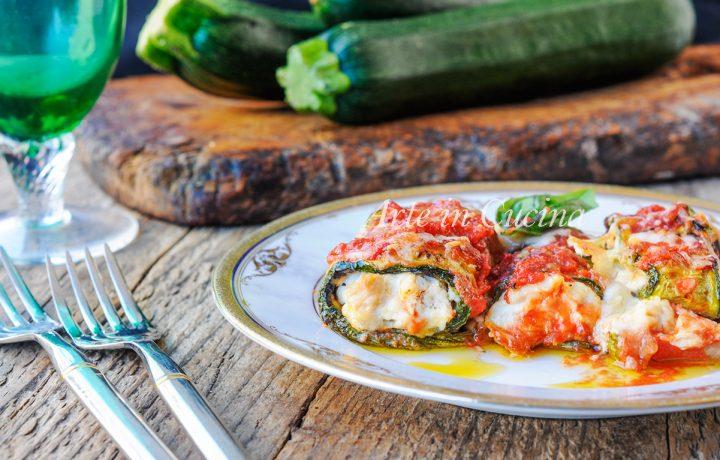 Rotolini di zucchine ricotta e tonno ricetta facile