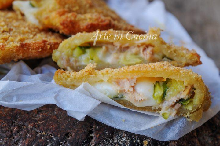 Sofficiotti zucchine tonno e asiago velocissimi vickyart arte in cucina