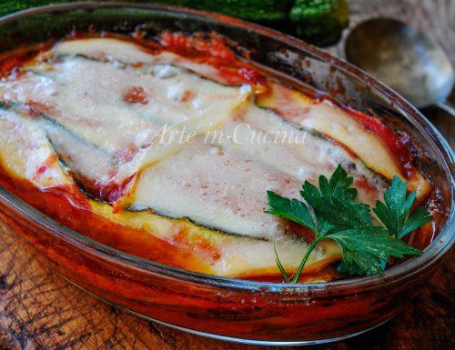 Teglia di zucchine non fritte con provola ricetta veloce