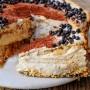 Torta di biscotti caffè e ricotta dolce veloce vickyart arte in cucina