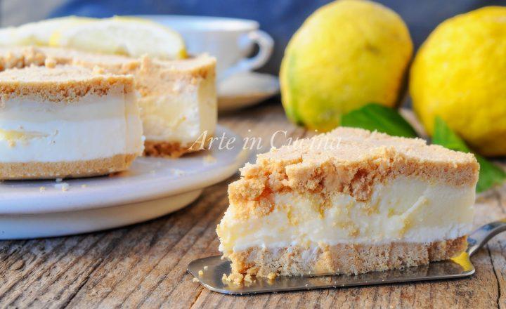 Torta di biscotti al limone e ricotta dolce veloce