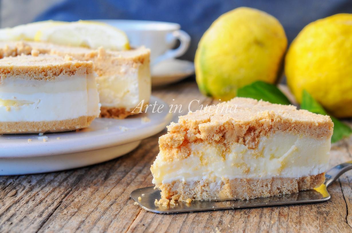 Torta di biscotti al limone e ricotta dolce veloce arte in cucina - Cucina macrobiotica dolci ...