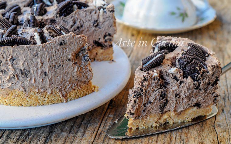Torta fredda con oreo e cioccolato dolce veloce