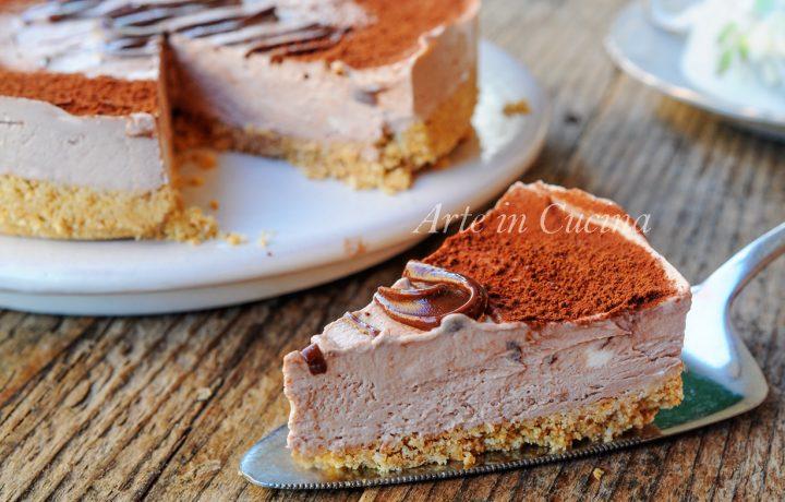 Torta nutella e ricotta senza cottura dolce veloce