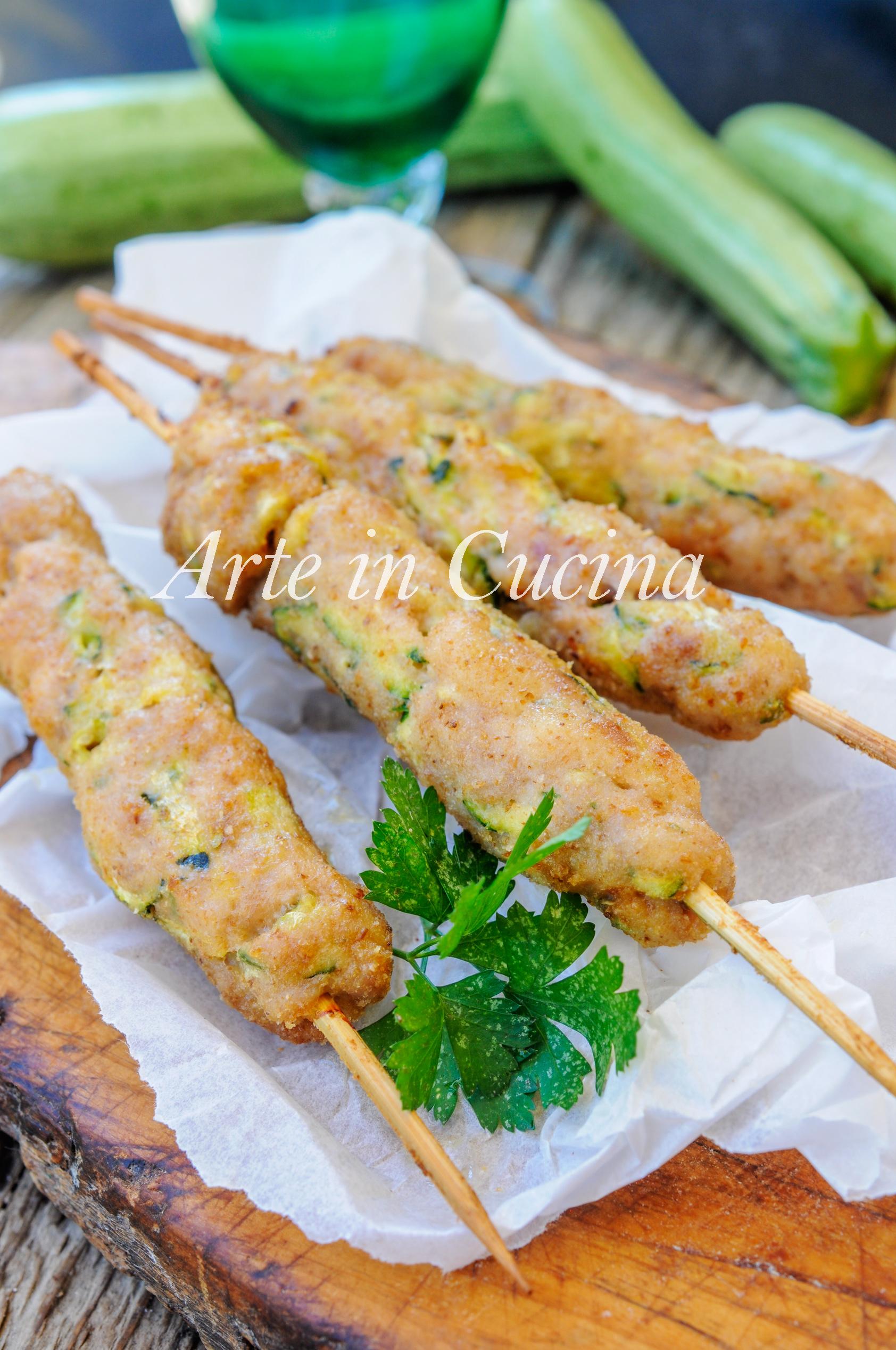 Arrosticini di maiale e zucchine ricetta sfiziosa veloce vickyart arte in cucina