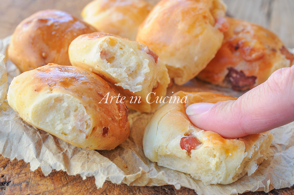 Baci Napoli ricetta rustici ai salumi facili vickyart arte in cucina