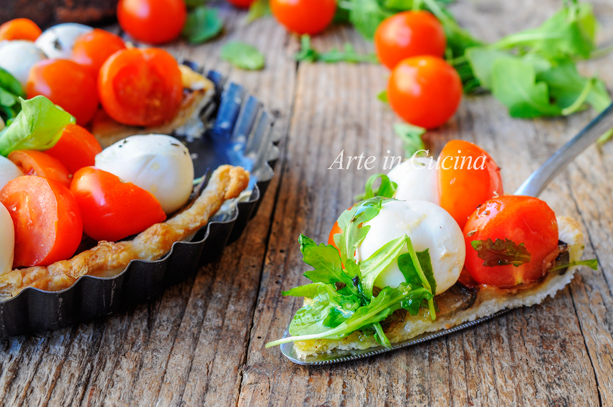 Crostata caprese con melanzane in pasta sfoglia | Arte in Cucina