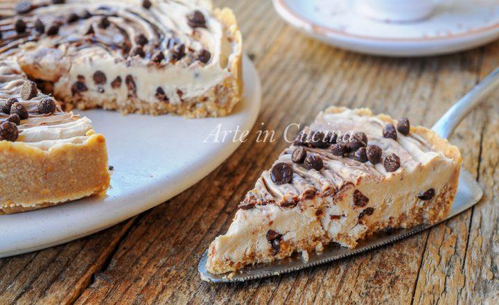 Crostata fredda al caffè e nutella dolce veloce