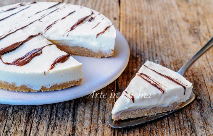 Crostata fredda al cioccolato bianco dolce veloce