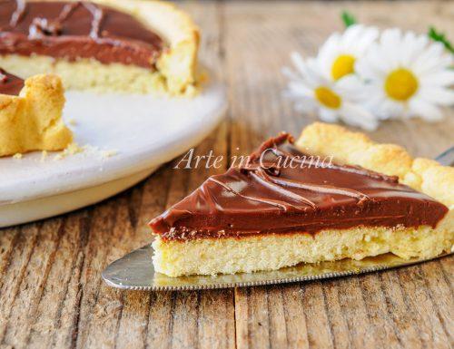 Crostata morbida al cioccolato nutella e mascarpone