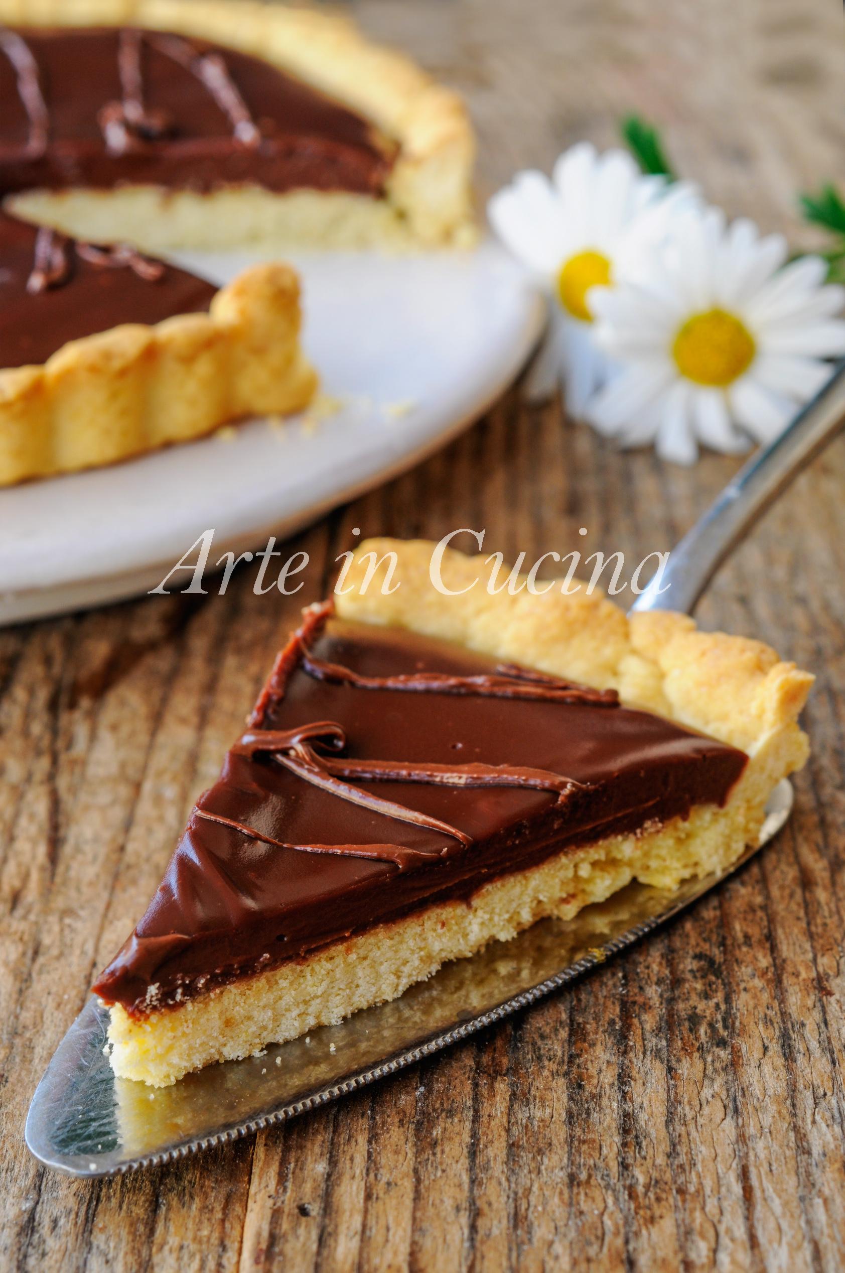 Crostata morbida al cioccolato nutella e mascarpone vickyart arte in cucina