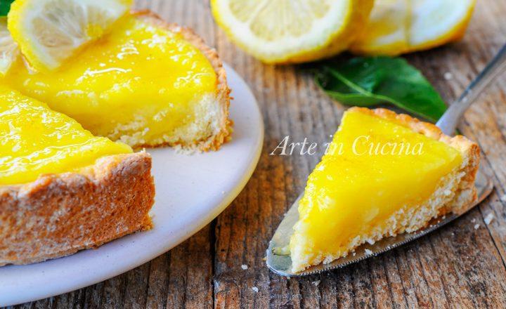 Crostata morbida al limone con doppia crema veloce