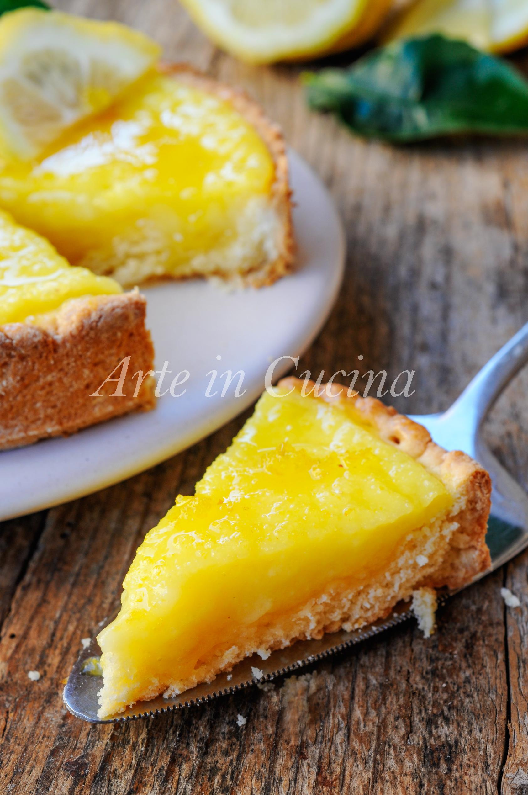 Crostata morbida al limone con doppia crema vickyart arte in cucina
