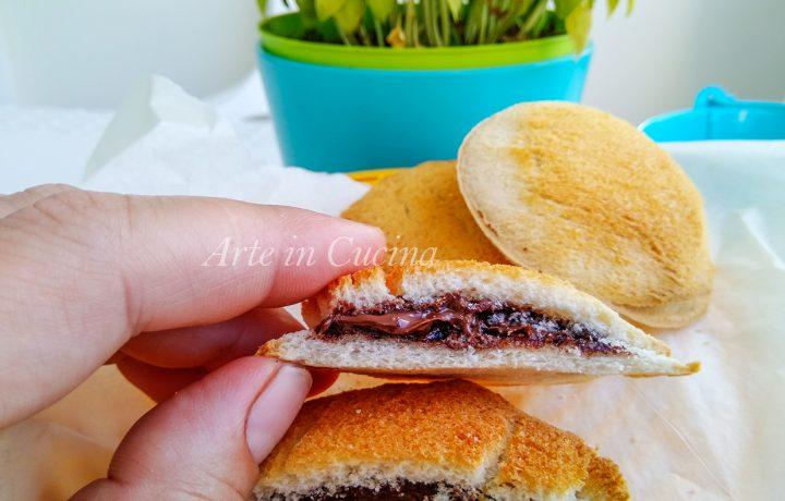 Focaccine di pancarrè alla nutella ricetta veloce