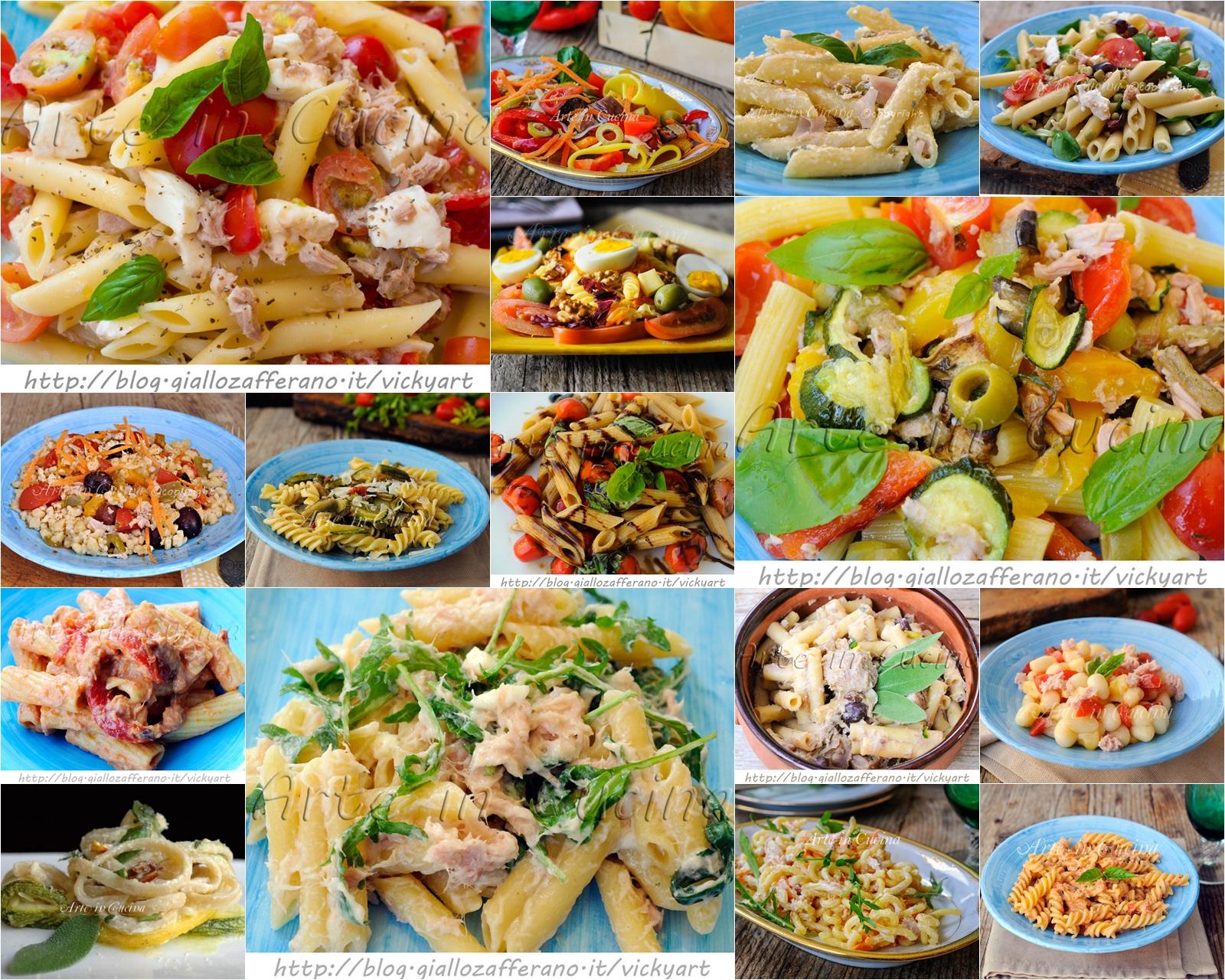 Insalate di pasta fredde ricette estive veloci arte in for Ricette facili cucina