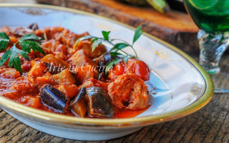 Melanzane con salsiccia ricetta facile e veloce