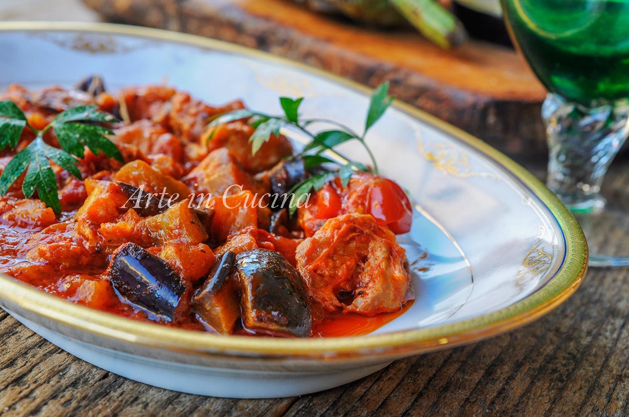 Melanzane con salsiccia ricetta facile e veloce vickyart arte in cucina