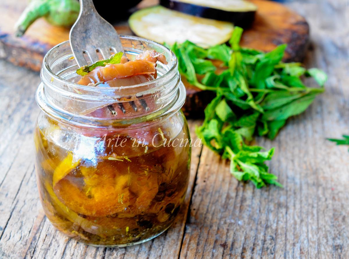 Melanzane piccanti sott'olio ricetta veloce e facile   Arte in Cucina