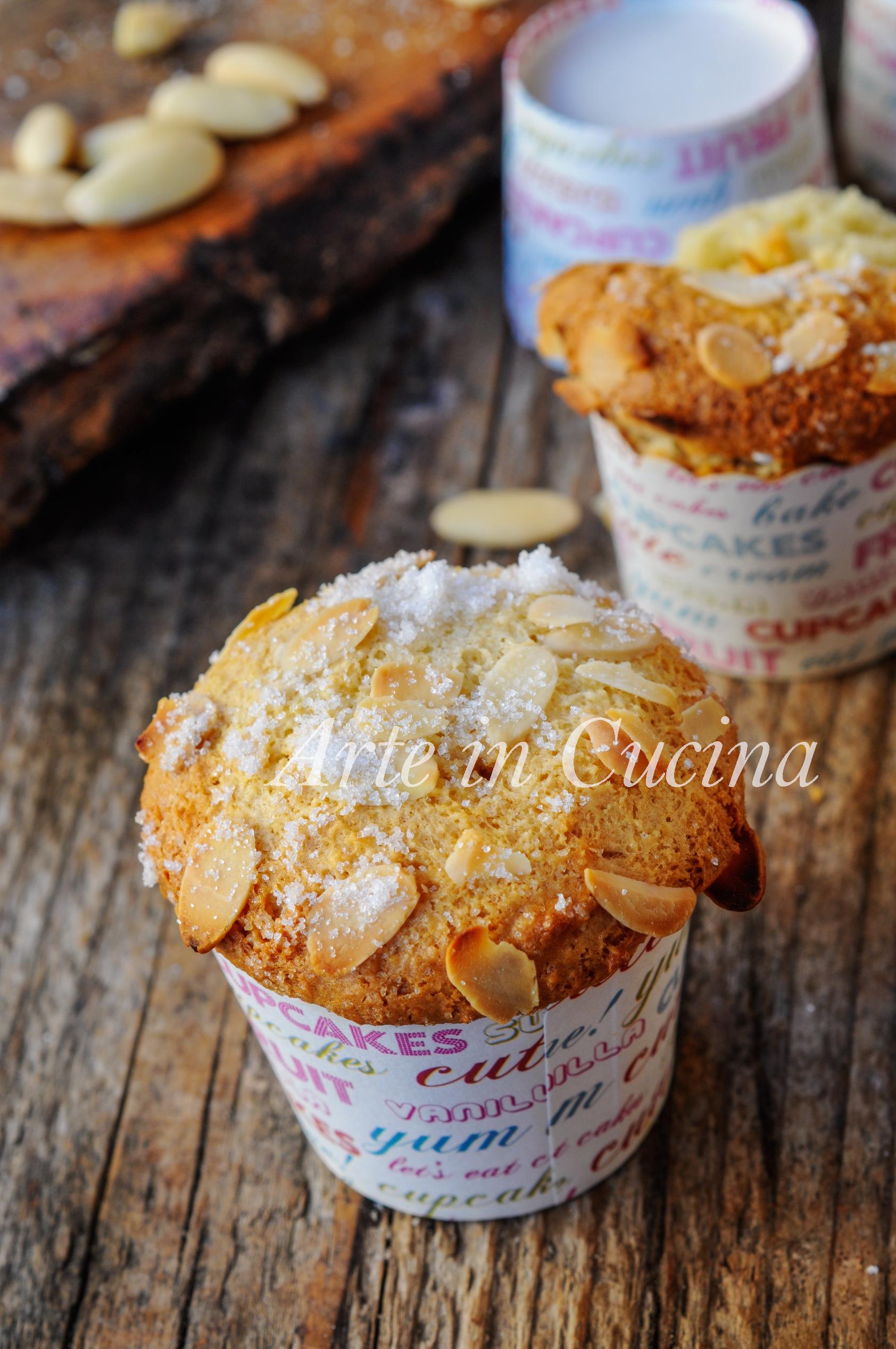 Muffin alle mandorle senza uova e burro vickyart arte in cucina