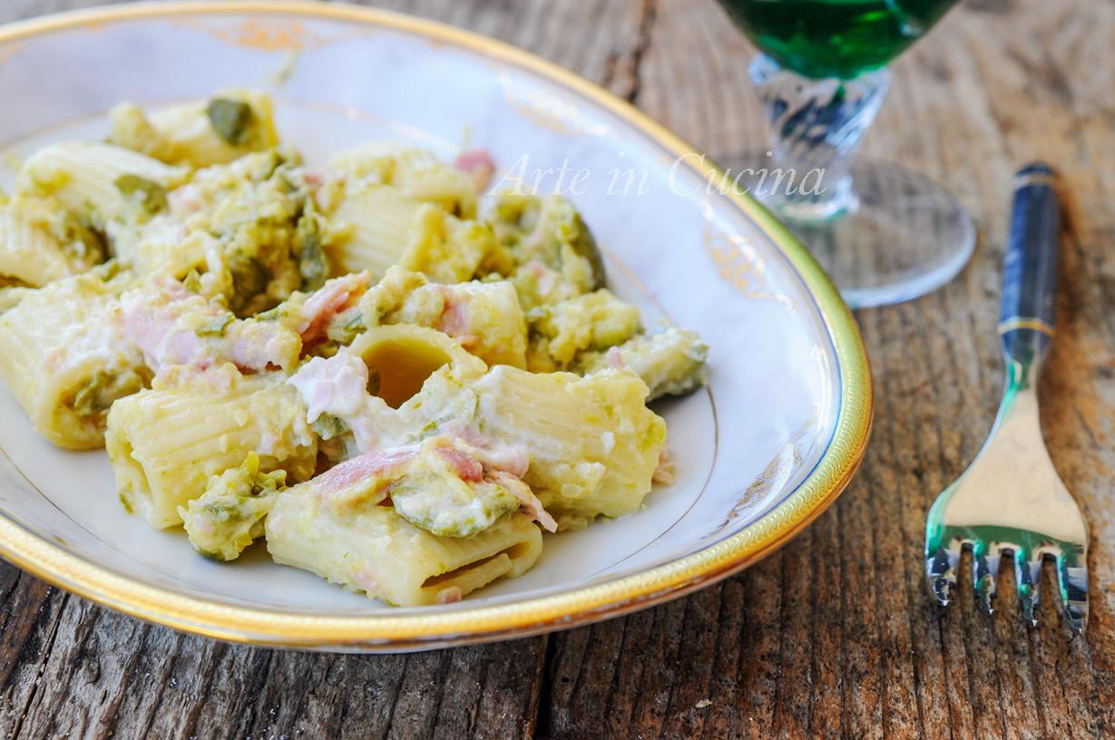Pasta con prosciutto e zucchine cremosa vickyart arte in cucina