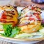 Patate a fisarmonica con melanzane e formaggio vickyart arte in cucina