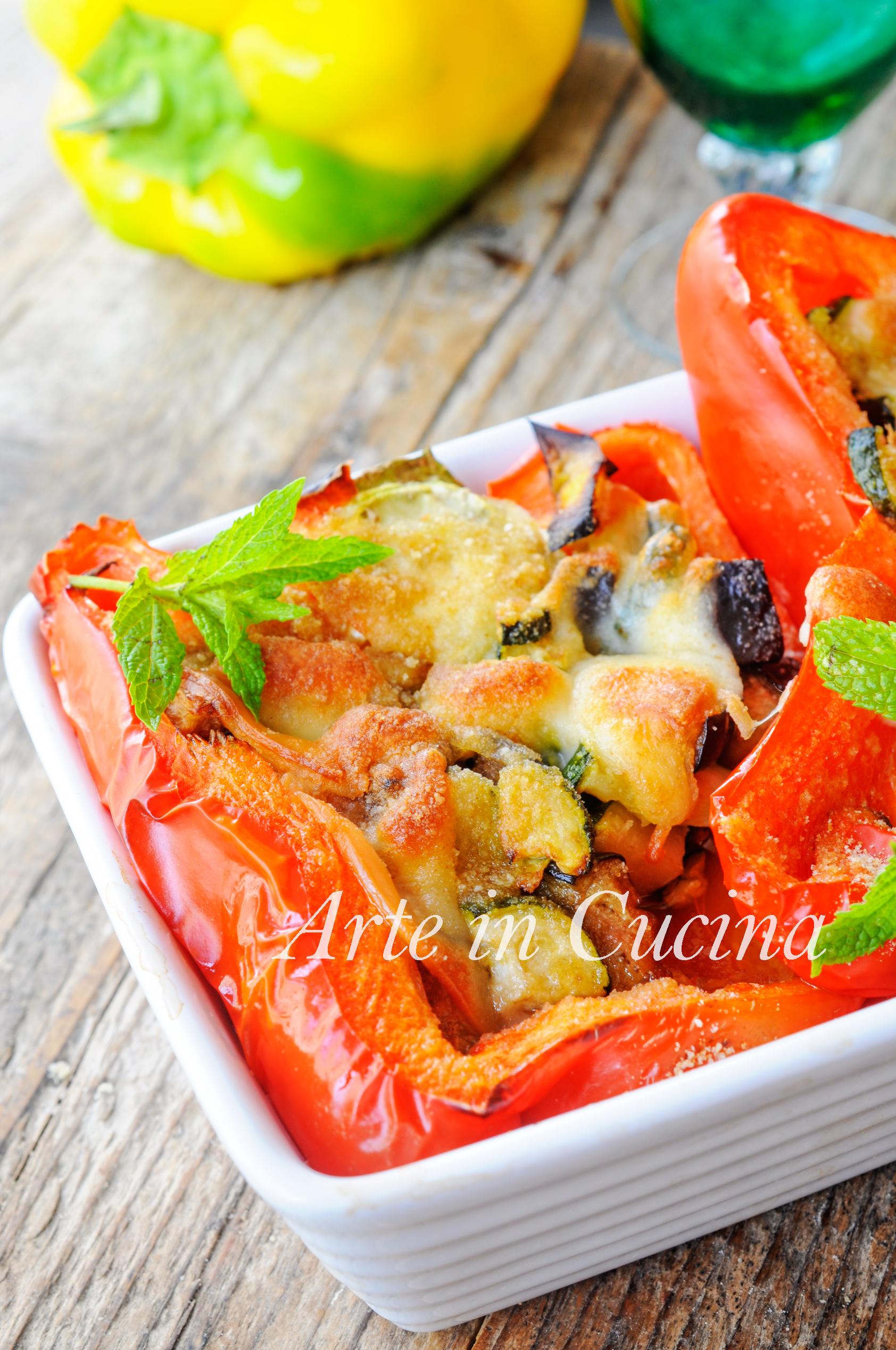 Peperoni ripieni alla montanara ricetta facile vickyart arte in cucina
