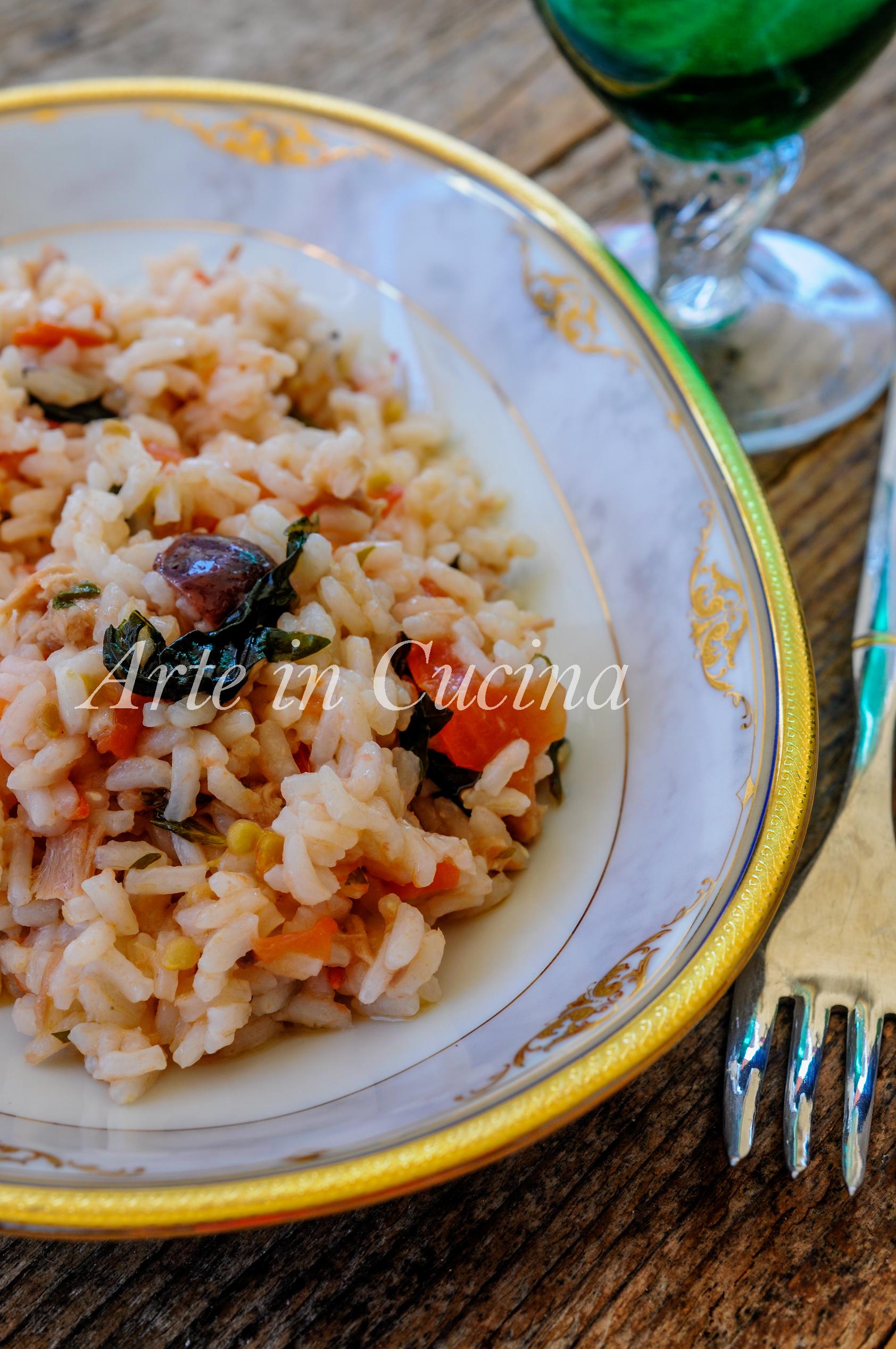Riso tonno e pomodorino fresco all'insalata veloce vickyart arte in cucina