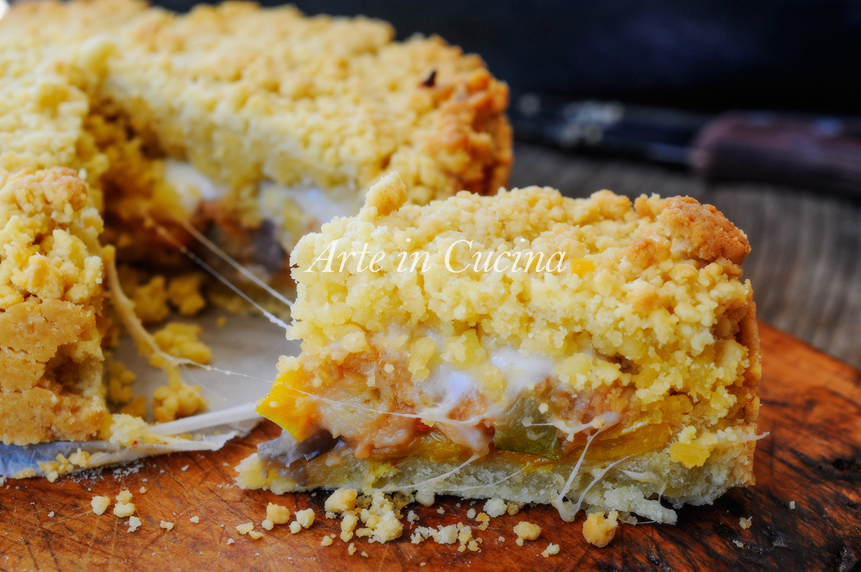 Sbriciolata di verdure e formaggio ricetta facile vickyart arte in cucina