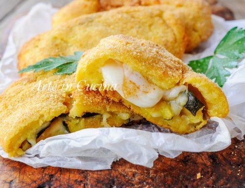 Soffiotti alle patate con zucchine e formaggio